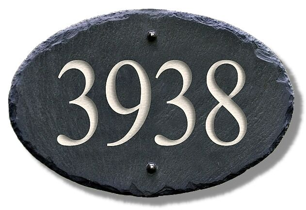 Engraved STONE ADDRESS MARKER/House/Sign/Plaque/Number