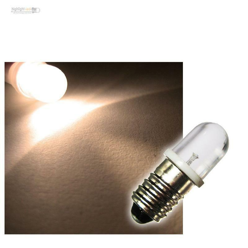 10x e 10 led lampen warmweiss 12v leds birne sockel e10 ebay. Black Bedroom Furniture Sets. Home Design Ideas