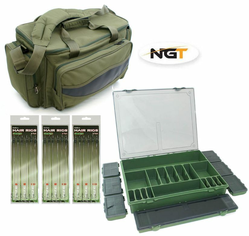 Carp fishing carryall bag large 7 1 tackle box 18 x for Large tackle boxes for fishing