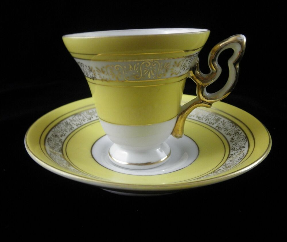 wales demitasse cup and saucer yellow fine china made in japan ebay. Black Bedroom Furniture Sets. Home Design Ideas