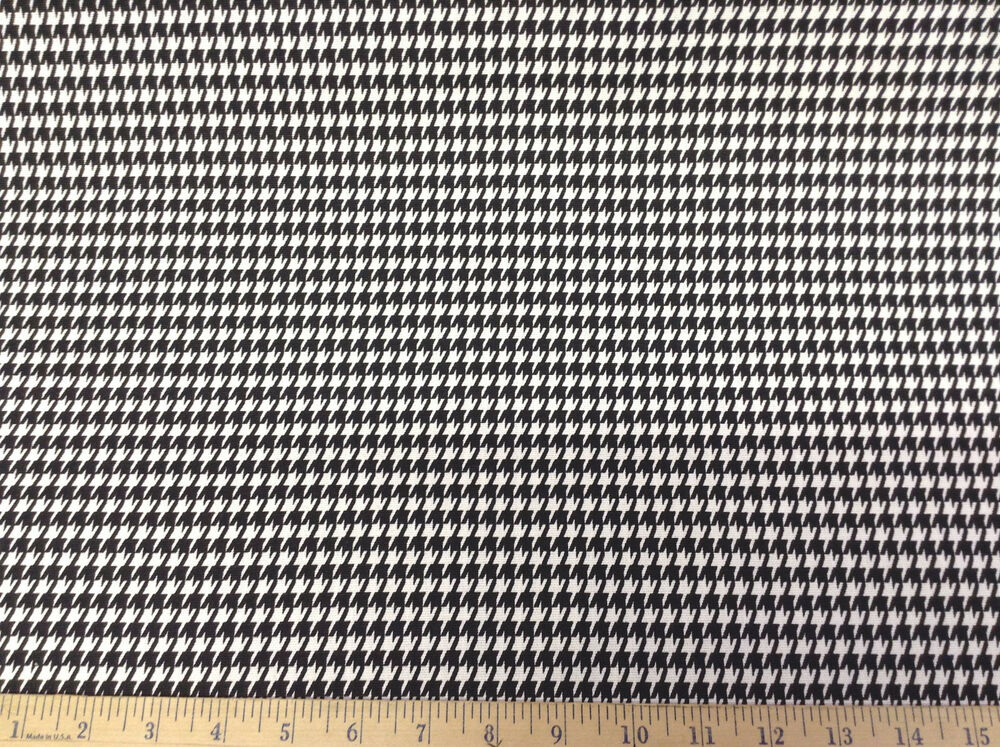Discount fabric premier prints houndstooth black and white for Cheap black and white prints