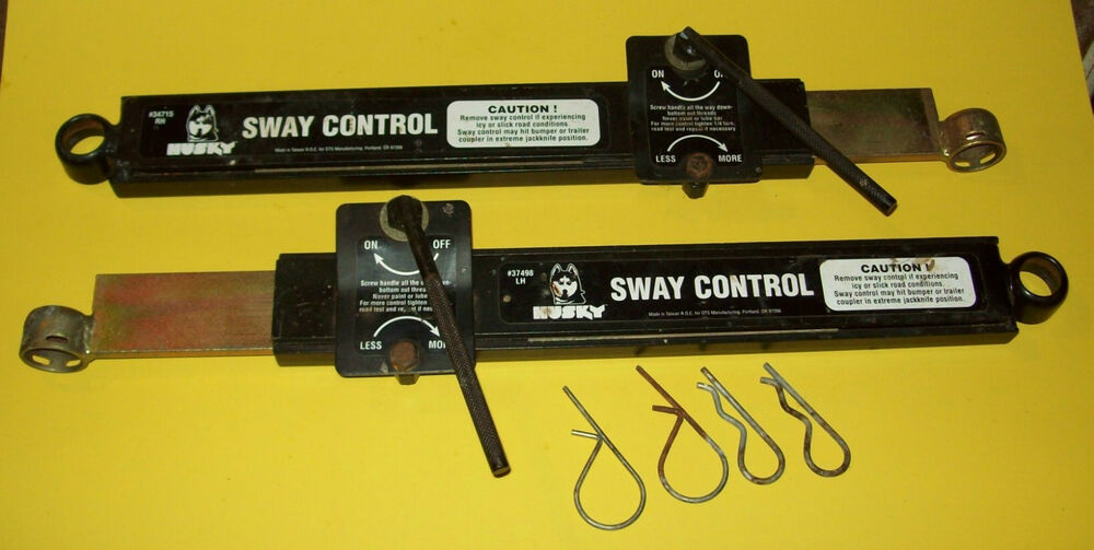 Stabilizer Bars For Travel Trailers : Husky trailer anti sway bars left right