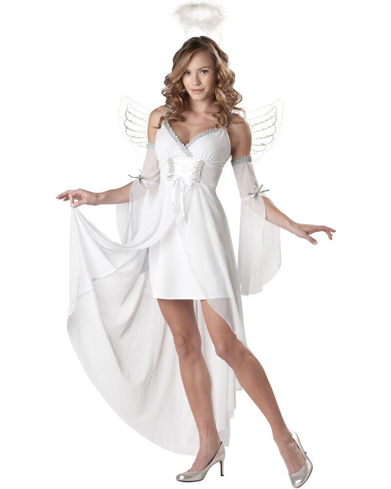 CL3 Heaven's Angel Womens Halloween Fancy Dress Adult Costume | eBay