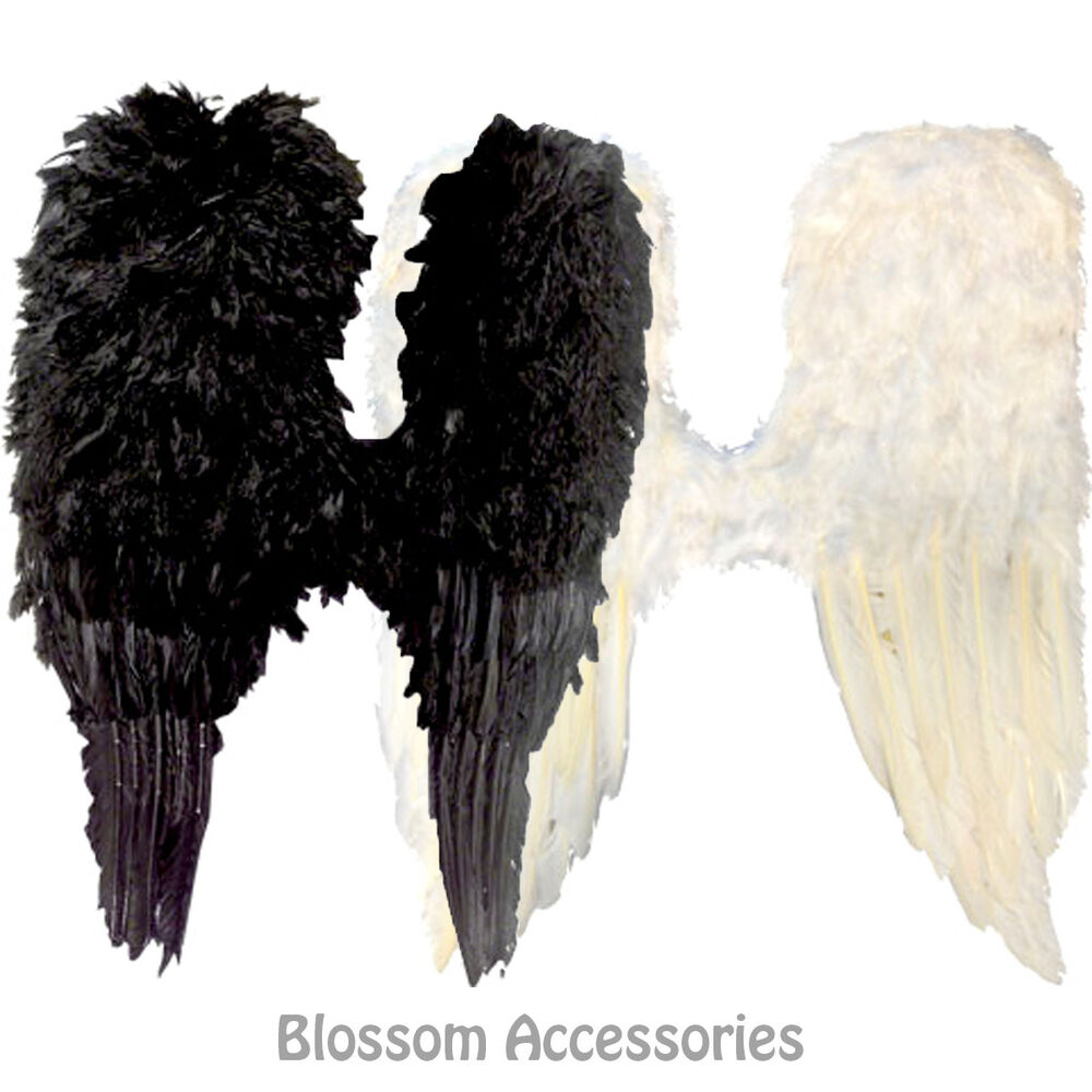 AS139 Black Or White Adult Feather Large Wings Angel