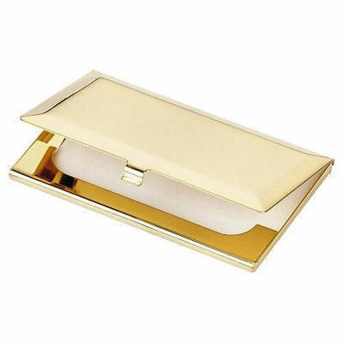 Gold Plated Brass Business Card Holder Boxed Ideal for