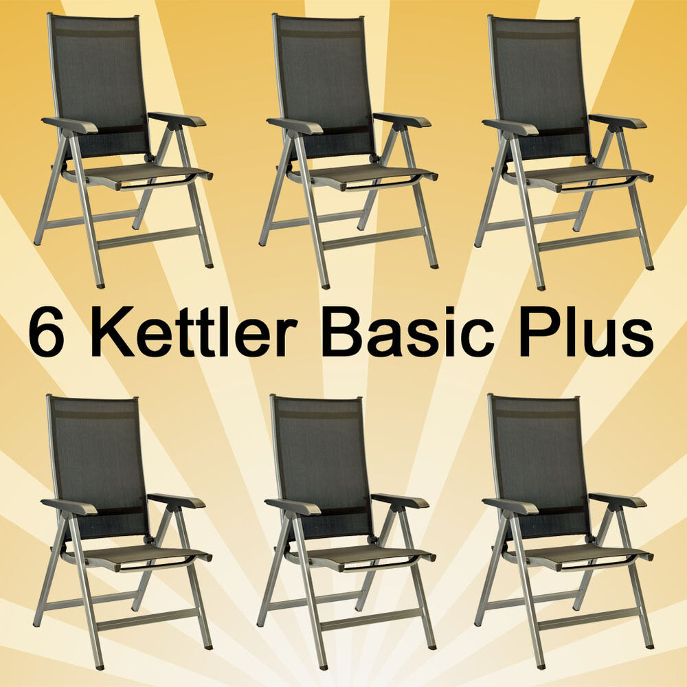 6 kettler basic plus klappsessel sessel