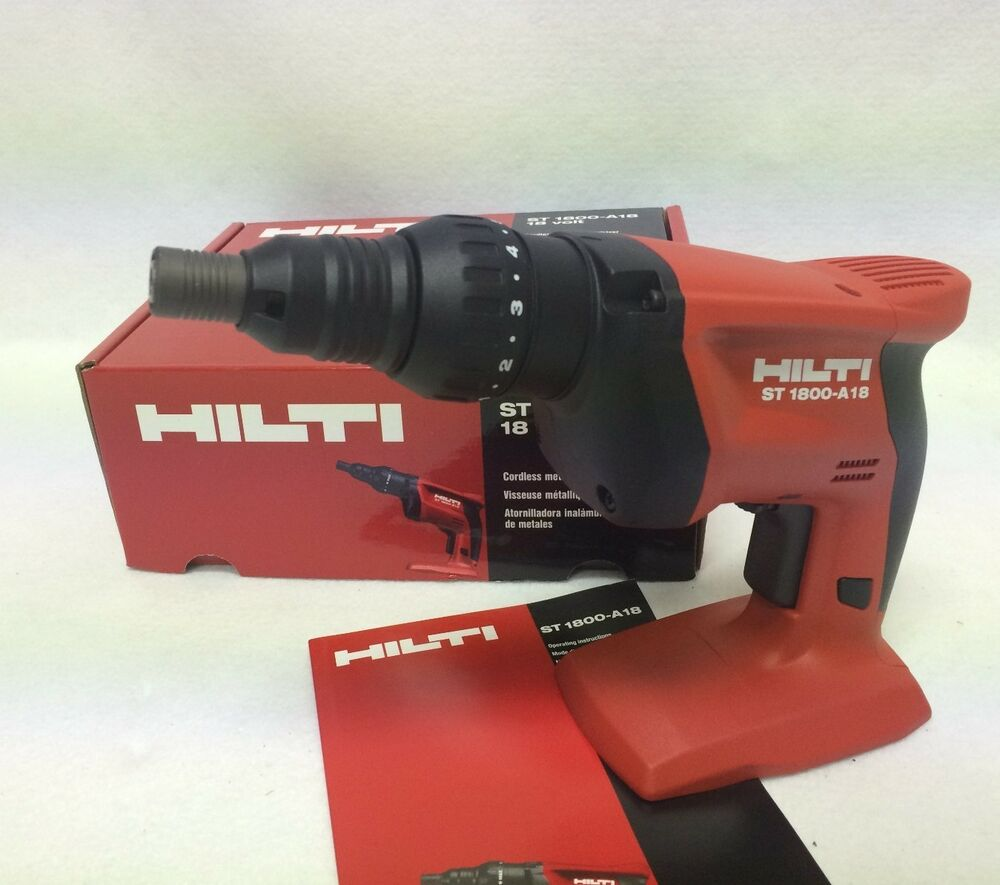hilti 18v st 1800 a18 cordless adjustable torque. Black Bedroom Furniture Sets. Home Design Ideas