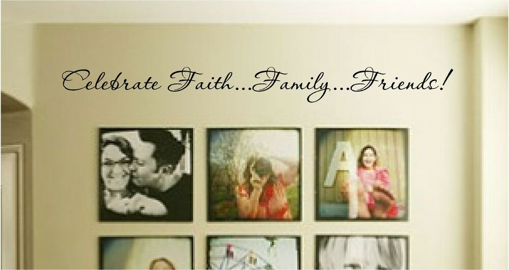 Family Friends Wall Decor : New celebrate faith family iends vinyl wall art
