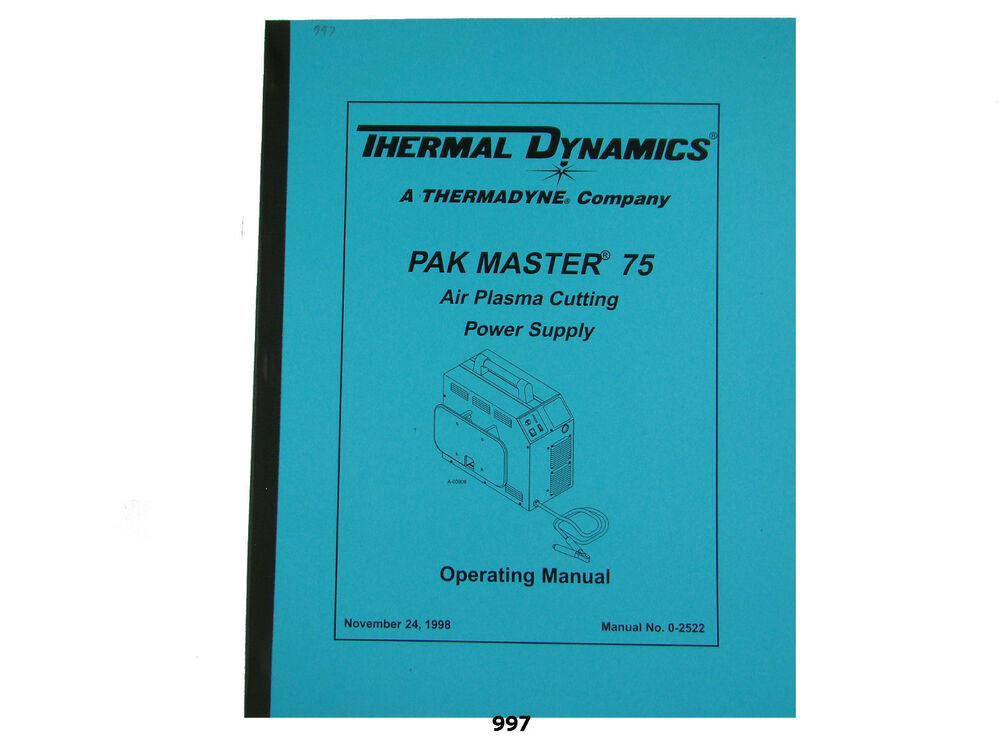 thermal dynamics cutmaster 38 manual