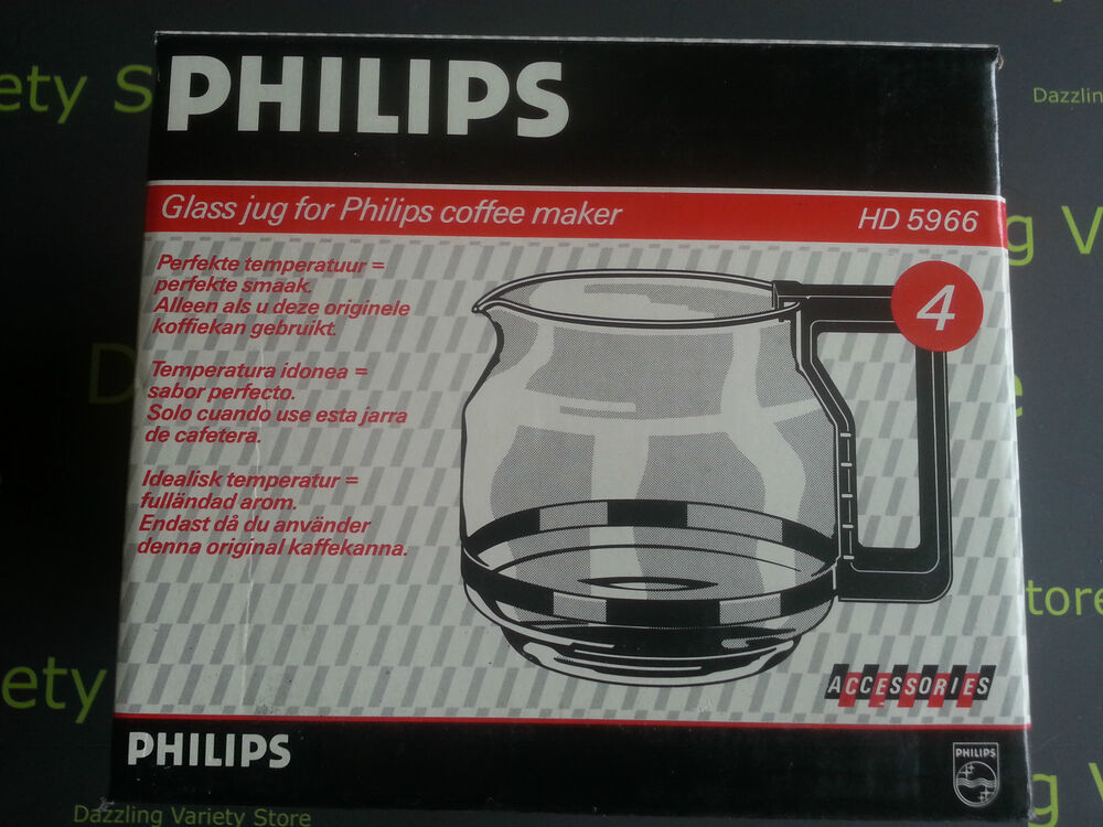 Philips Coffee Maker Replacement Carafe : NEW Replacement Glass Jug for Philips Coffee Maker HD5966 (4) Official Accessory eBay