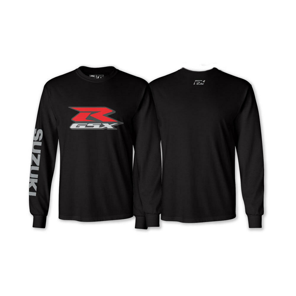factory effex suzuki gsx r long sleeved black t shirt tee. Black Bedroom Furniture Sets. Home Design Ideas