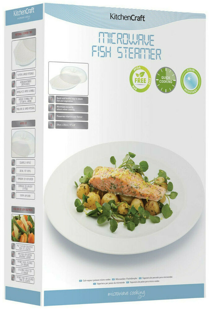 Kitchen craft microwave cooking covered fish cooker for Cooking fish in microwave