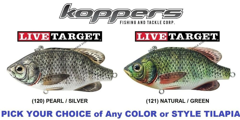 Koppers live target tilapia crankbait lipless rattle trap for Live target fishing lures