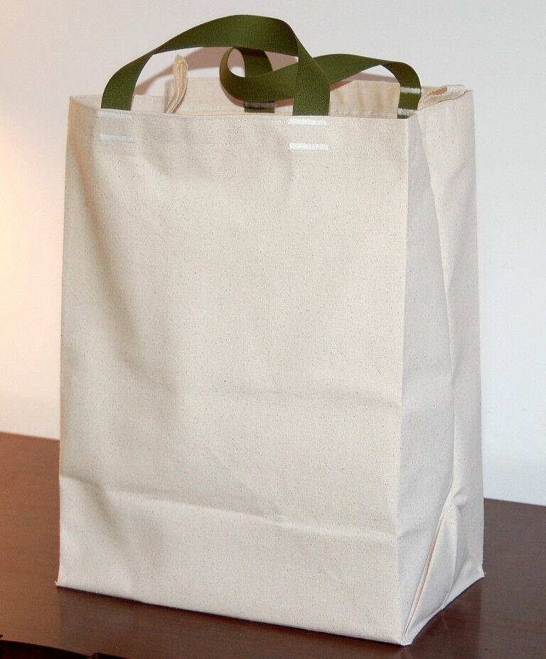 Canvas Grocery Ping Tote Bag Eco Friendly Reusable In Usa Turtlecreek Ebay