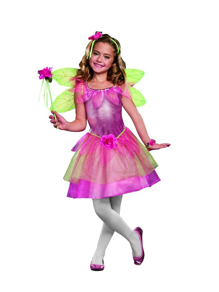 FLOWER FAIRY New Halloween Girl Costume Dress by Dreamgirl ...