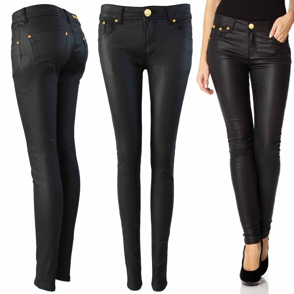 Perfect Black Super Skinny Jeans Womens - Jeans Am
