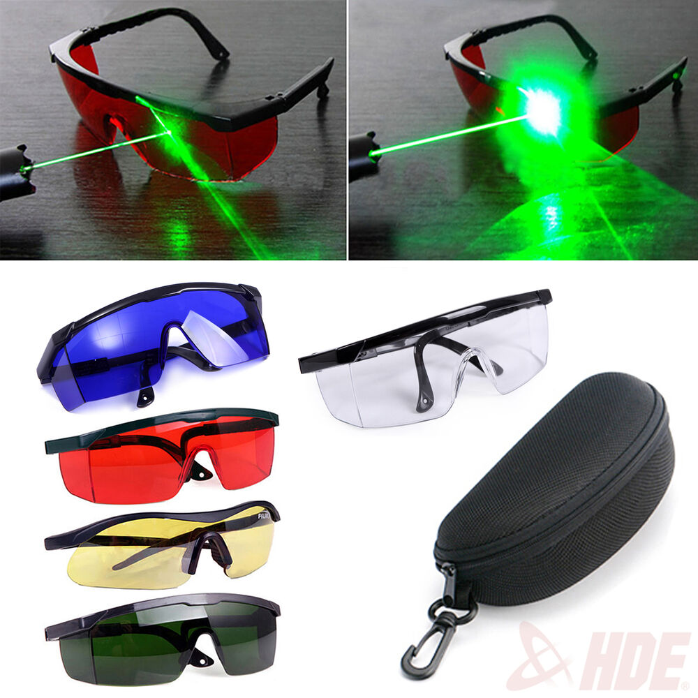 Tinted Laser Safety Hard Glasses Goggles W Protective