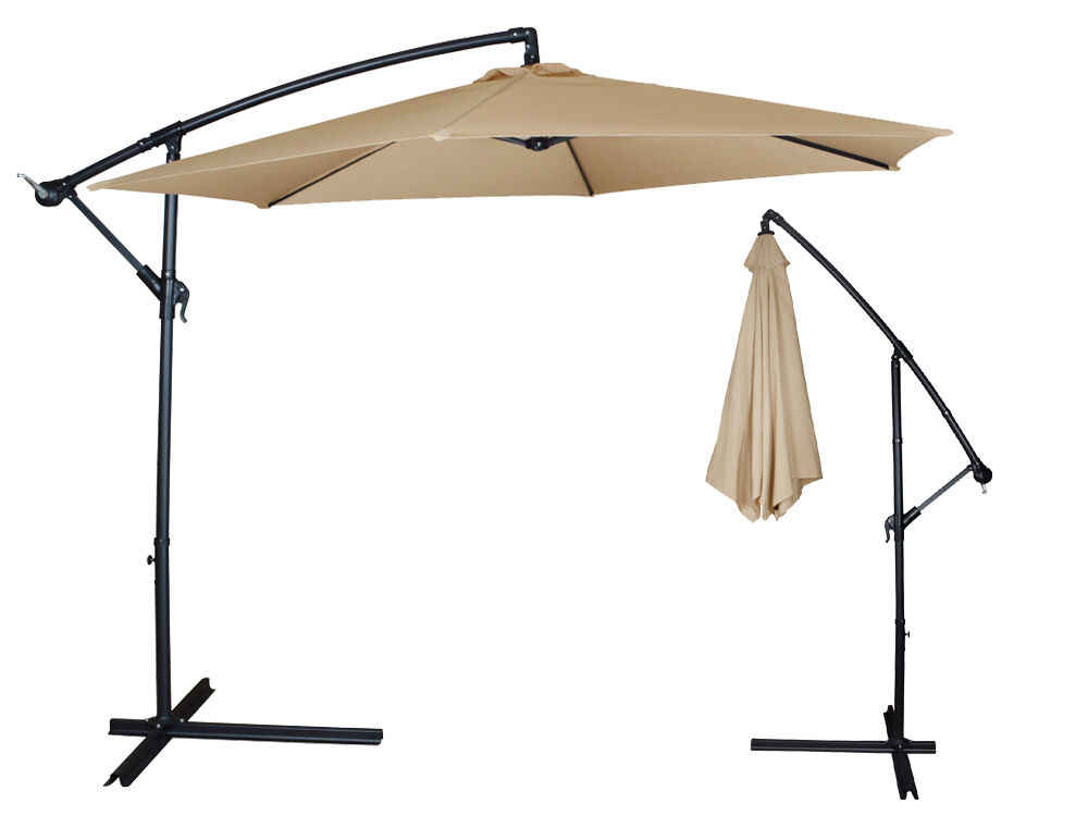 10ft outdoor patio sun shade umbrella cantilever hanging