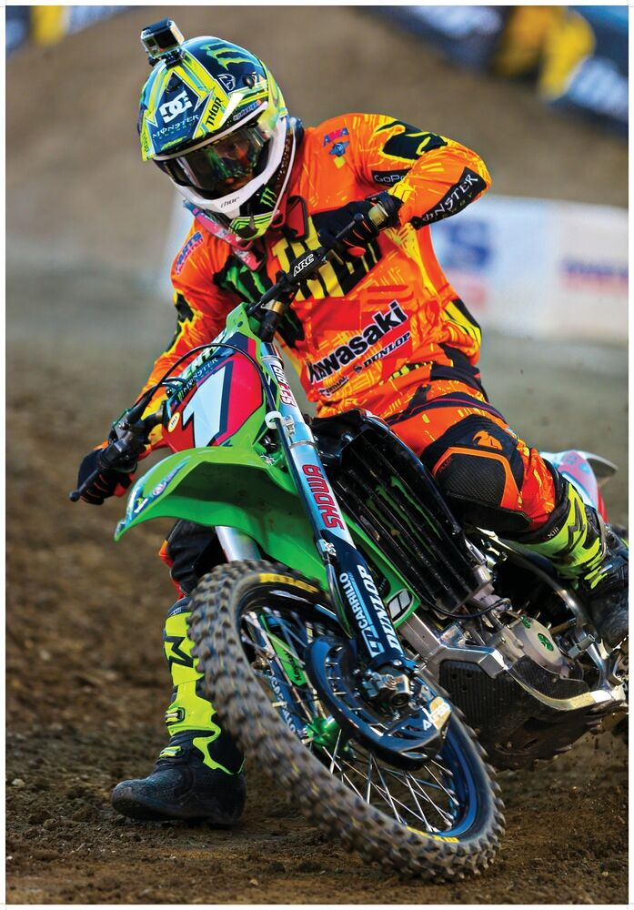 RYAN VILLOPOTO MONSTER ENERGY SUPERCROSS GIANT POSTER