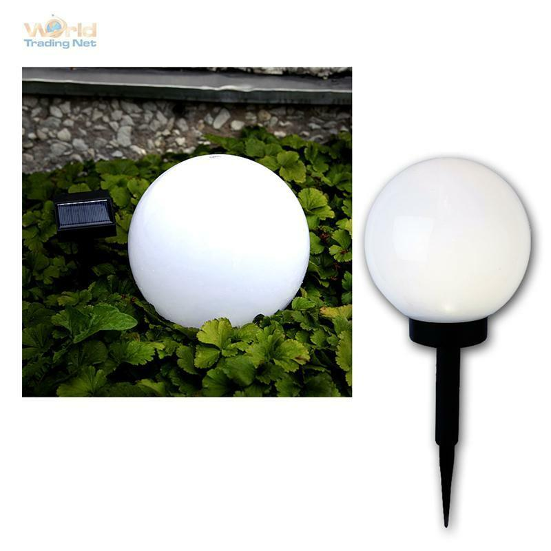 solar led kugelleuchte 20cm garten lampe kugellampe au en leuchte kugel leds ebay. Black Bedroom Furniture Sets. Home Design Ideas
