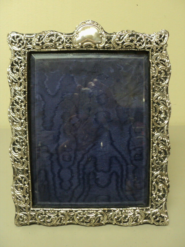 LARGE ANTIQUE ENGLISH STERLING SILVER PICTURE FRAME 12.75 ...