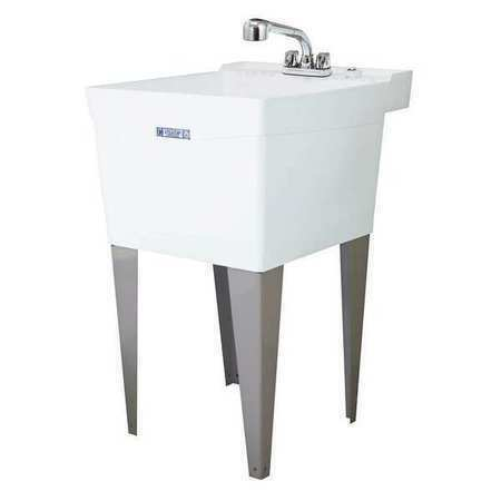 Mustee Thermoplastic Utility Sink With Faucet Bowl Size
