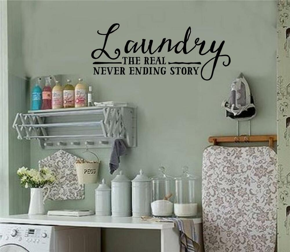 Laundry Room Wall Stickers