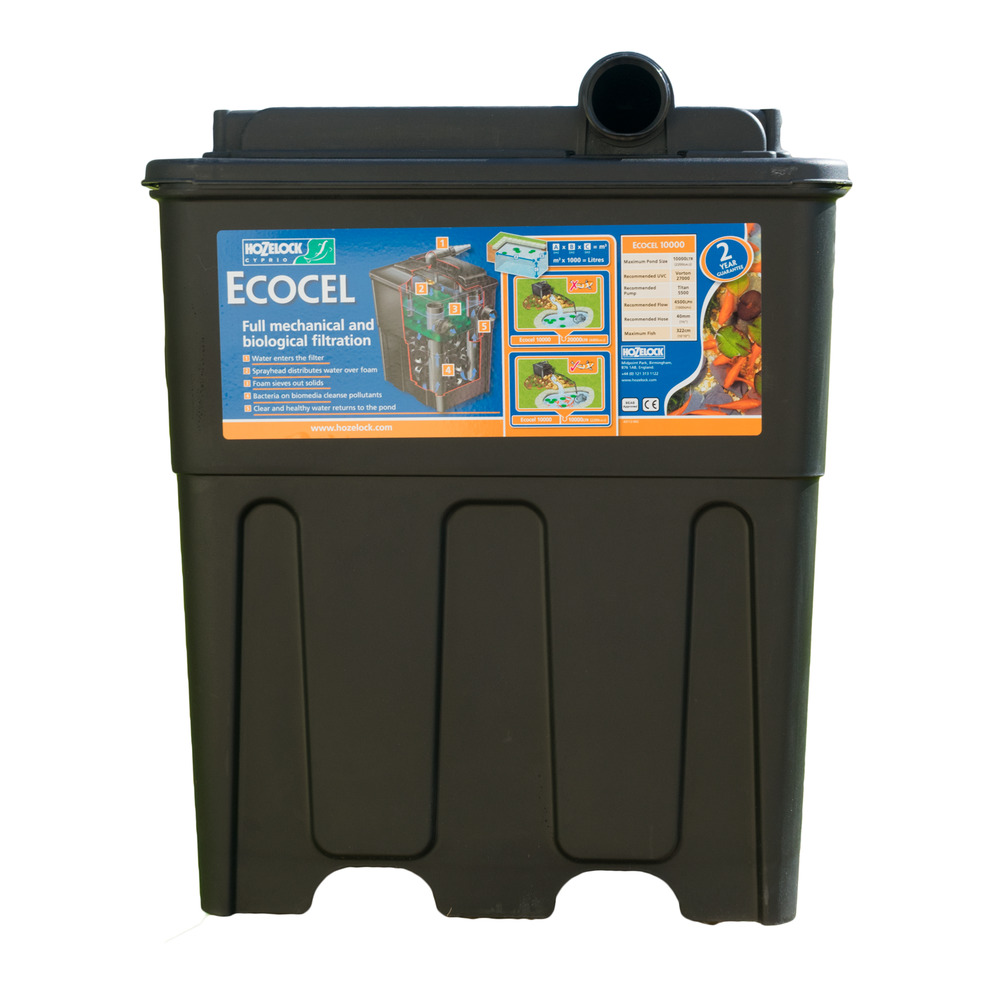 Hozelock ecocel 10000 fish pond filter system new ebay for Best koi filter system