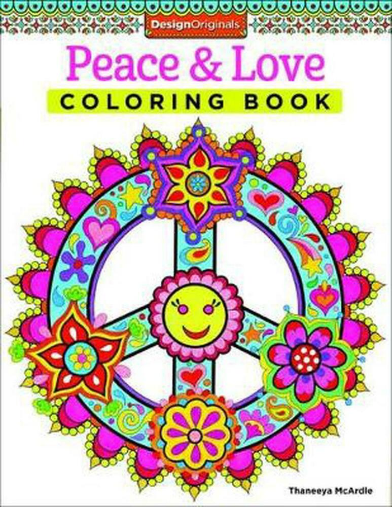 Peace Love Coloring Book By Thaneeya Mcardle English Paperback Free Shi 9781574219630