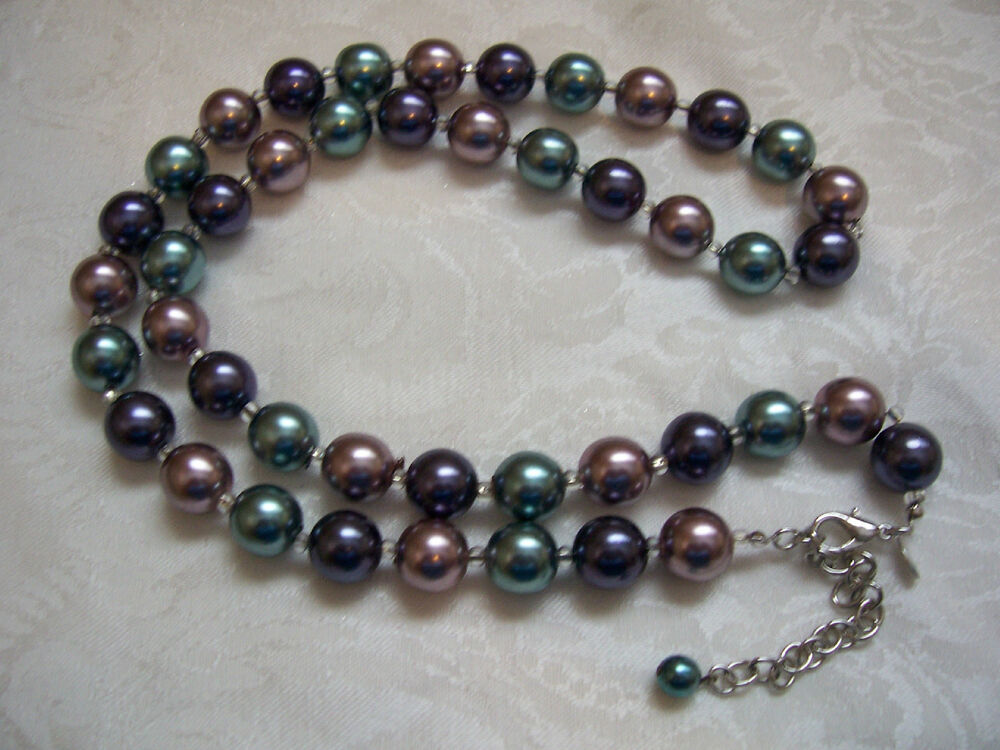 JOAN RIVERS Multi-Color Glass Bead Necklace 32""