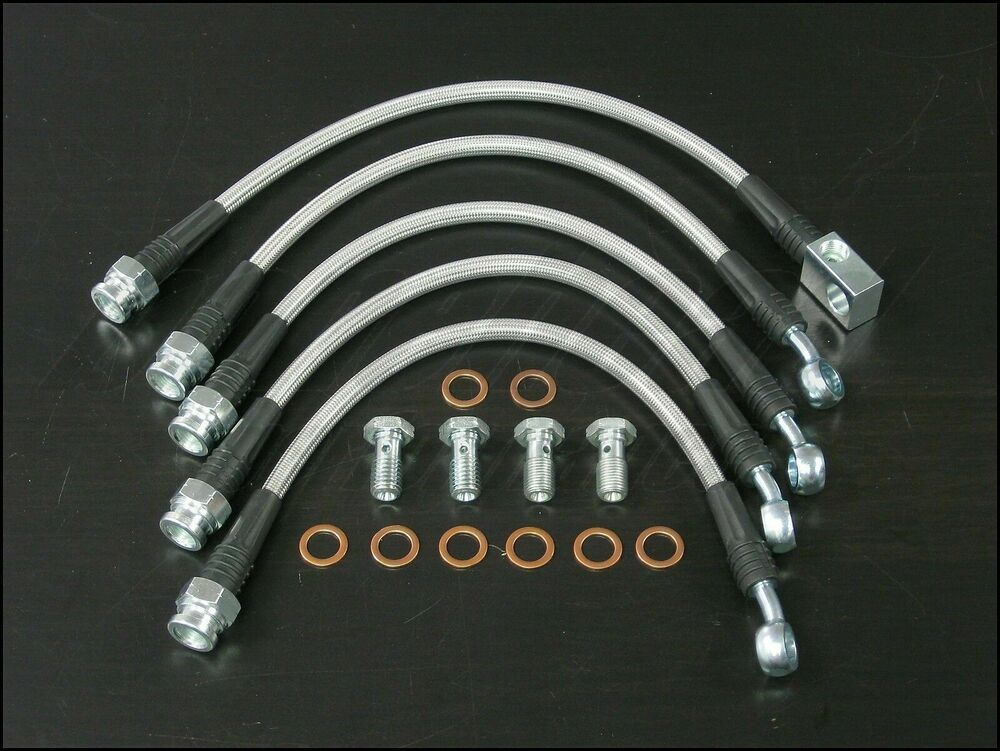Ss Brake Line : Techna fit stainless steel braided brake lines