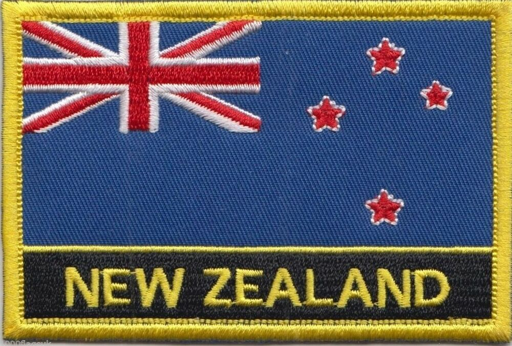New Zealand Flag Embroidered Patch Badge  Sew Or Iron On