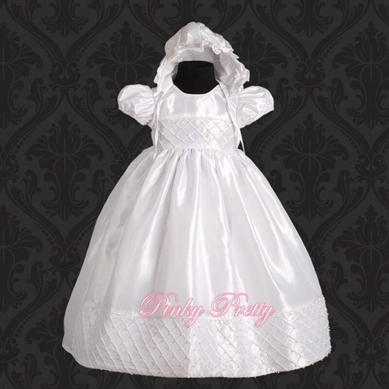 Beaded White Baby Girl Christening Baptism Formal Dress