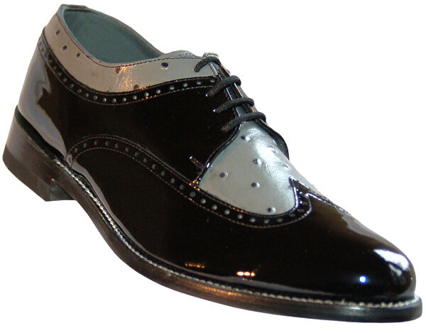 Black And White Wingtip Tuxedo Shoes
