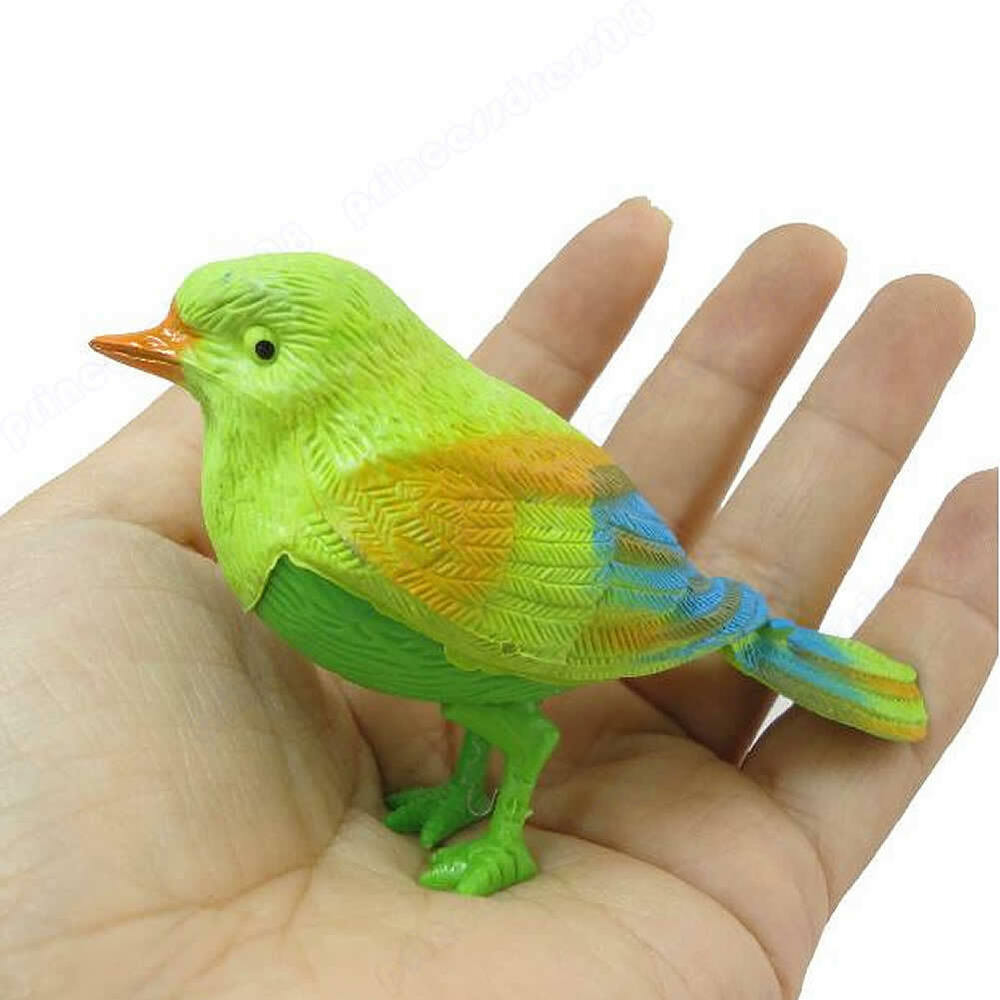 Bird Toys For Birds : New funny sound voice control activate chirping singing