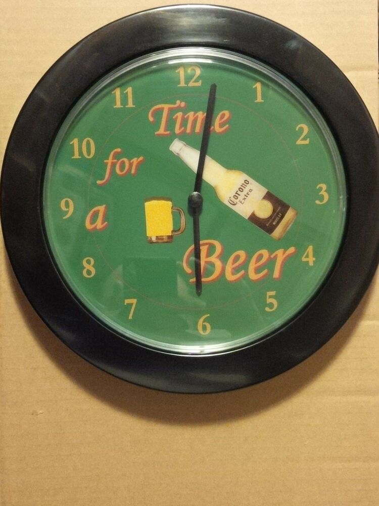Corona Extra Time For A Beer 10 Inch Wall Clock Ebay