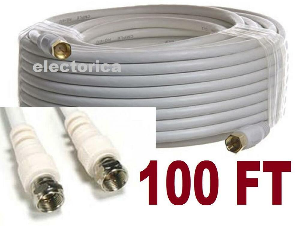 100 ft rg6 satellite coaxial cable tv hd antenna directv. Black Bedroom Furniture Sets. Home Design Ideas