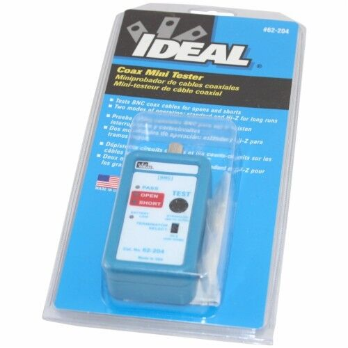Coax Cable Tester Ideal 62 204 Ebay