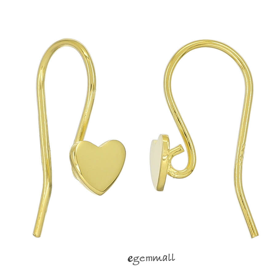 gold plated sterling silver hook ear wire