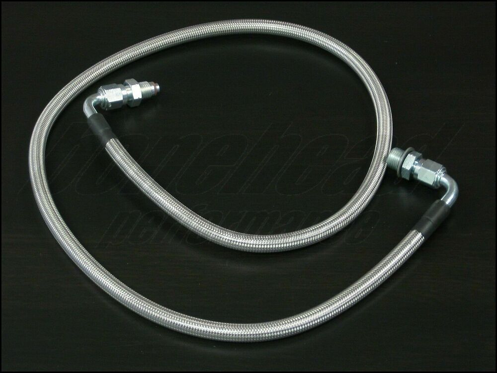 Stainless Power Steering Lines : High pressure stainless braided power steering line for