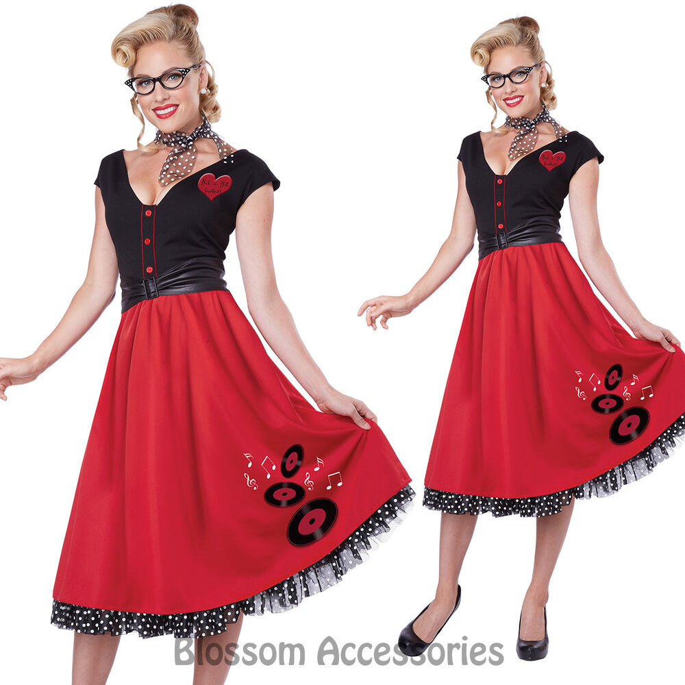 CL162 Rock and Roll Sweetheart Womens 50s 60s Grease Fancy ...