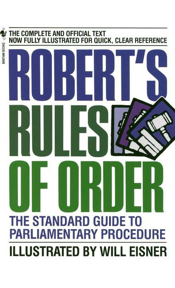 New Robert's Rules of Order by Eisner Mass Market Paperback Book ...