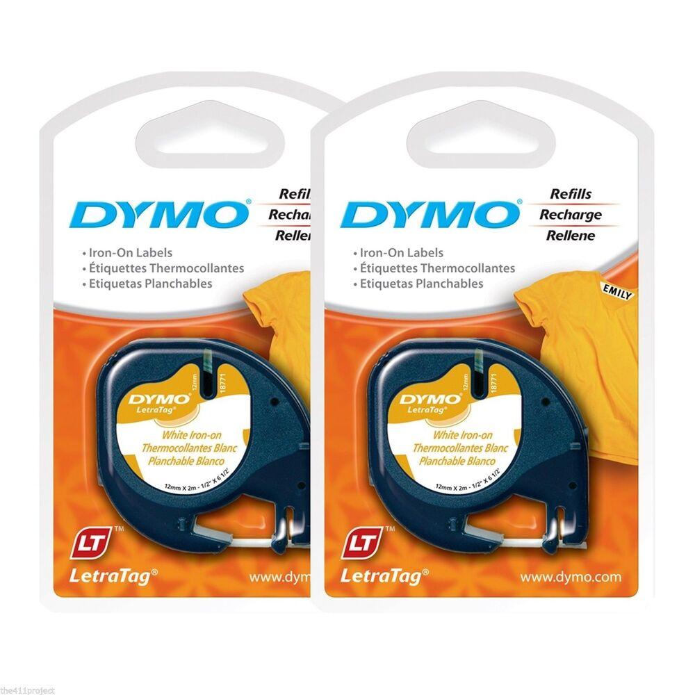 """2PK New Dymo Letra Tag 18771 IRON-ON 1/2"""" LetraTag Labels ..."""
