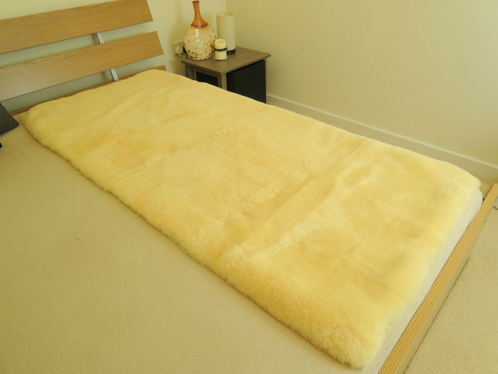100 Genuine Medical Sheepskin Rectangular Bed Pad Mat