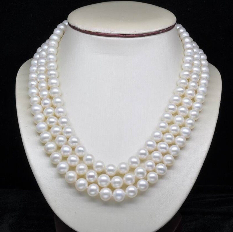 Fashion Women S Natural 8 9mm White Akoya Cultured Pearl