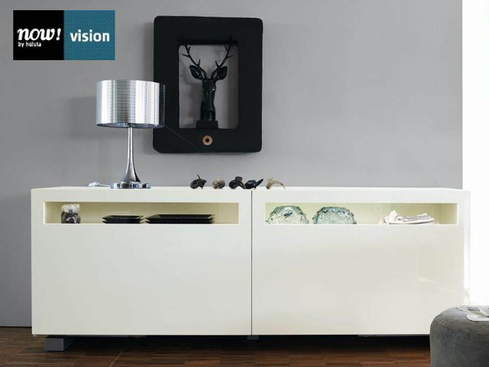 sideboard now by h lsta vision lack weiss hochglanz weiss 211cm neu ebay. Black Bedroom Furniture Sets. Home Design Ideas
