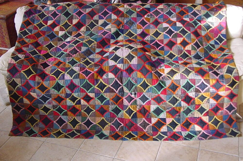 GRAPHIC WOOL QUILT C 1880 ARTS AND CRAFTS DECO MID CENTURY eBay