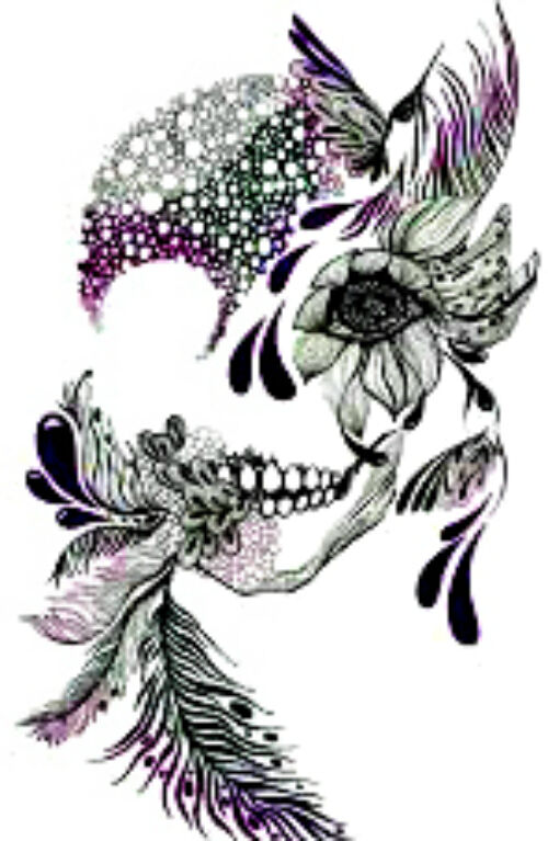 20 Sugar Skull Woman Nail Design Nail Manicure Tip Sticker Decal Decoration Ebay
