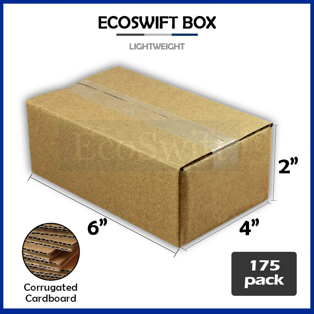 175 6x4x2 cardboard packing mailing moving shipping boxes. Black Bedroom Furniture Sets. Home Design Ideas