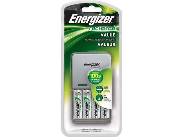 energizer aa aaa versatile battery charger kit with 4 pack aa ni mh rechargeable ebay. Black Bedroom Furniture Sets. Home Design Ideas